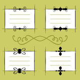 Calligraphic frames Stock Images