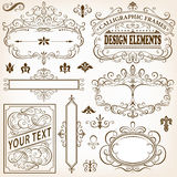 Calligraphic Frames And Design Elements II Stock Image