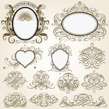 Calligraphic Frames and Design Elements Royalty Free Stock Photo