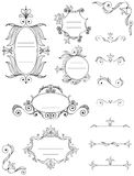 Calligraphic frames and elements Royalty Free Stock Photo