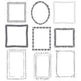 Calligraphic frames Royalty Free Stock Photos