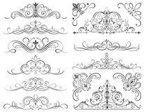 Calligraphic Frames And Scroll Elements Stock Image