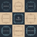 Calligraphic frames set. Vector vintage elegant Stock Photos