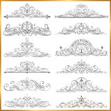 Calligraphic Frames Vector Set Stock Photo