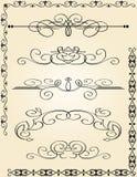 calligraphic garneringelementsida Arkivfoton
