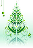 Calligraphic green xmastree Royalty Free Stock Photo