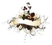 Calligraphic grunge autumn-banner vector illustration