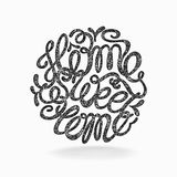 Calligraphic hand drawn  lettering vector poster Royalty Free Stock Photography