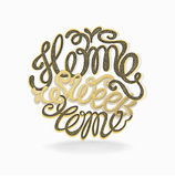 Calligraphic hand drawn  lettering vector poster Royalty Free Stock Photos