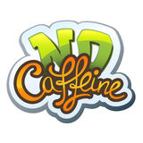 No Caffeine. Calligraphic handwritten lettering No Caffeine royalty free illustration