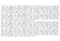 Calligraphic handwritten script Handwriting Manuscript texture Stock Photos