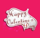 Calligraphic happy valentines day Stock Photos
