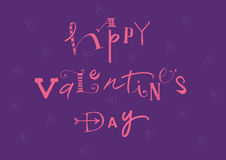 Calligraphic Happy Valentines Day royalty free stock image