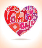 Calligraphic heart. Royalty Free Stock Photos
