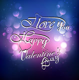 Calligraphic I Love You Valentines day text Stock Photos