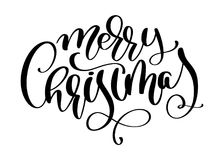 Calligraphic inscription Merry Christmas with flourish. Vector illustration.  royalty free illustration