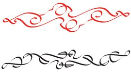 Calligraphic items. Calligraphic lines very useful items Stock Image