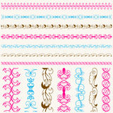Calligraphic lace brush set Stock Photography