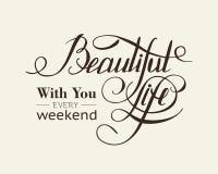 Calligraphic lettering design Stock Photos