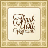 Calligraphic lettering - thank you