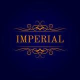 Calligraphic logomall för tappning Identitetsdesignen för shoppar, restaurangen, skönhetsalongen, boutique eller hotellet vektor illustrationer