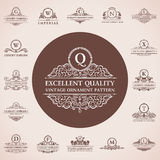 Calligraphic logos set. Vintage template pattern Royalty Free Stock Photography