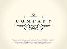 Calligraphic Luxury line logo. Flourishes elegant emblem monogram. Royal vintage divider design Stock Image