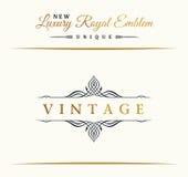 Calligraphic Luxury line symbol. Flourishes elegant emblem monogram. Royal vintage divider design Stock Photo
