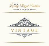 Calligraphic Luxury line symbol. Flourishes elegant emblem monogram. Royal vintage divider design Stock Photography