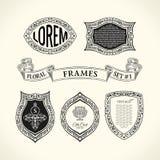 Calligraphic Luxury line symbol. Flourishes elegant emblem monogram. Royal vintage divider design Royalty Free Stock Photography