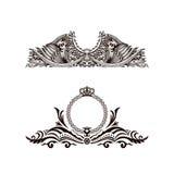 Calligraphic Luxury logo. Emblem elegant decor elements. Vintage Stock Images