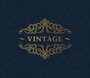 Calligraphic luxury symbol. Emblem ornate decor Stock Photos