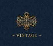 Calligraphic luxury symbol. Emblem ornate decor Royalty Free Stock Photography