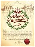 calligraphic märka för jul Arkivfoto