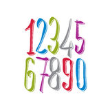 Calligraphic numbers. Royalty Free Stock Photo