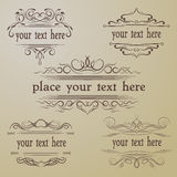 Calligraphic old elements vintage decor. Royalty Free Stock Image