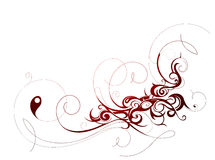 Calligraphic ornament Royalty Free Stock Images
