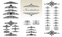 Calligraphic & Ornament Design Set Royalty Free Stock Photos