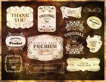 Calligraphic, ornamental design elements Stock Images