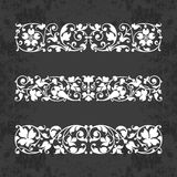 Calligraphic ornaments for design on a chalkboard background - vector set. Vector set of calligraphic elements for design - lots of useful elements to embellish royalty free illustration