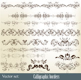 Calligraphic ornate borders Royalty Free Stock Images