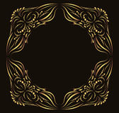 Calligraphic ornate gold vector frame vector illustration