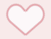 Calligraphic outlined  heart-shape frames with full editable fil. L and stroke colors Stock Image