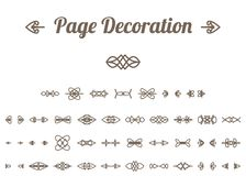 Calligraphic page decoration. Calligraphic design elements and page decoration. Vector set Royalty Free Stock Photography