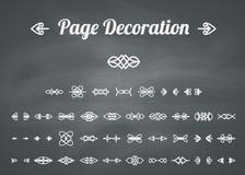 Calligraphic page decoration Stock Photo