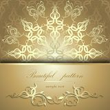 Calligraphic pattern with butterflies Royalty Free Stock Photo