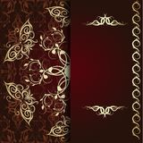 Calligraphic pattern with butterflies Royalty Free Stock Images