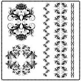 Calligraphic patterns on a white background Royalty Free Stock Images