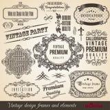Calligraphic ram Collectio för beståndsdelgränshörn Royaltyfria Bilder