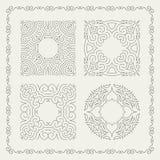 Calligraphic ram för krusidullar Retro design för inbjudningar, stock illustrationer
